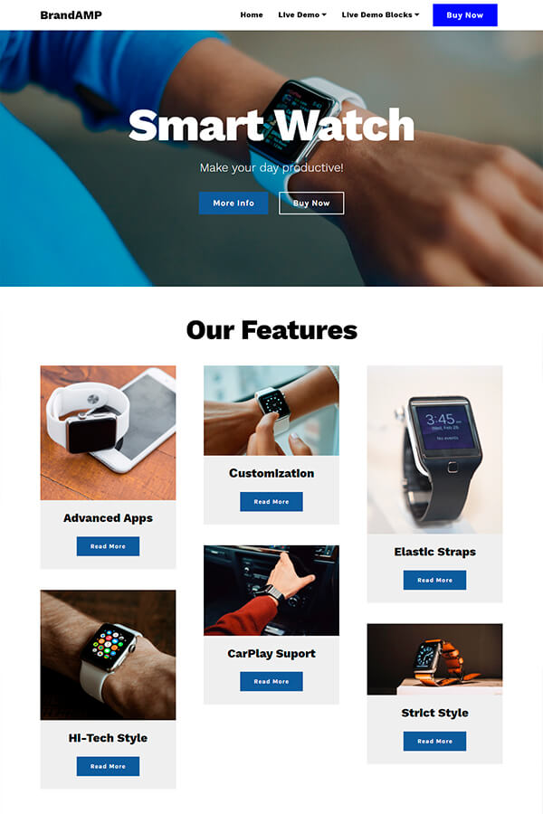 Smart Watch HTML Template