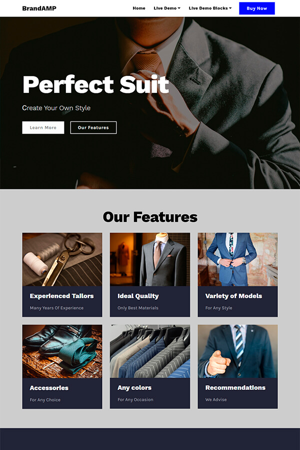 Perfect Suit Website Theme
