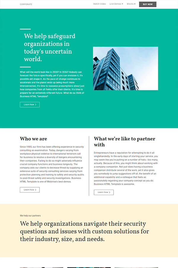 Responsive Corporate Web Template