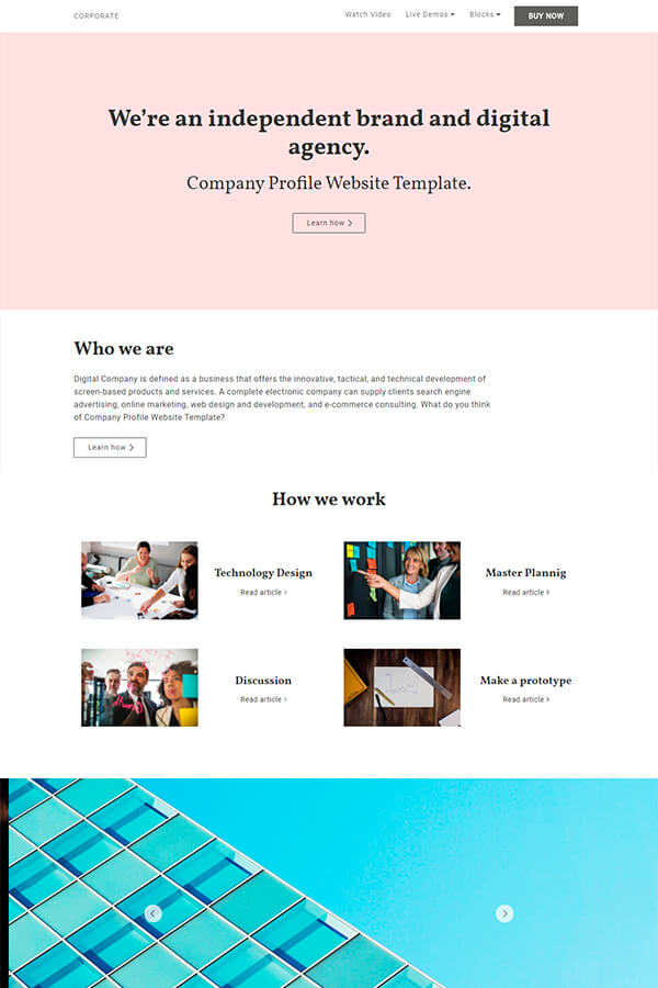 Company Profile Website Template