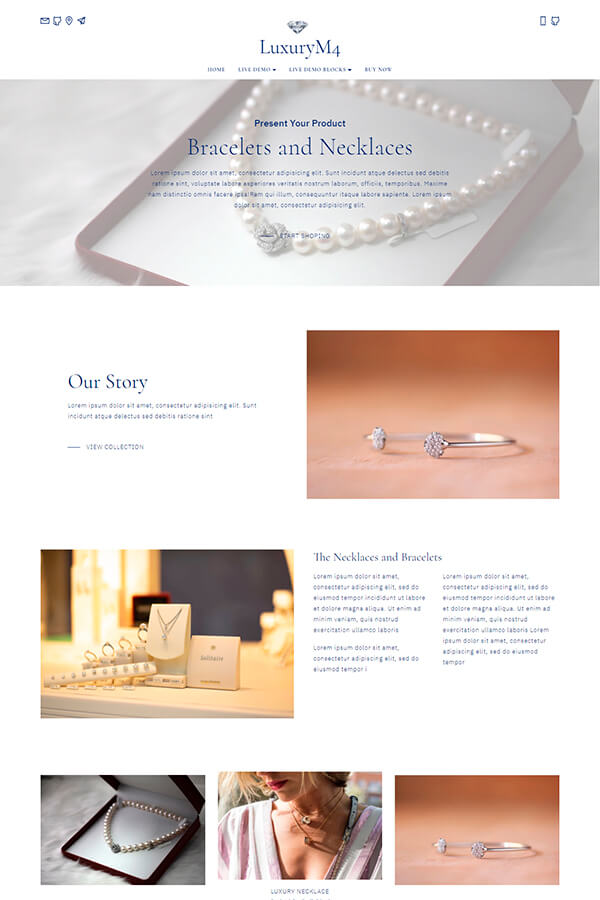Accessories One Page Template