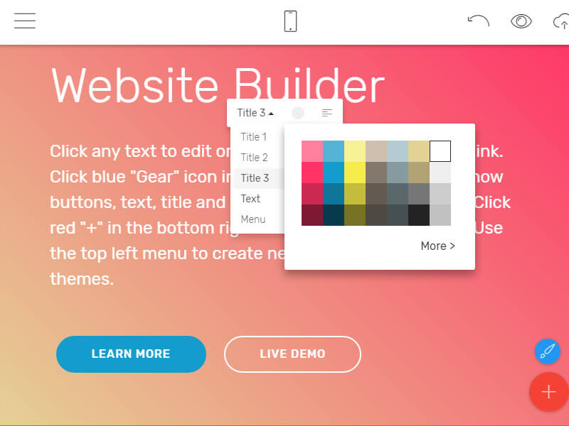 website builder offline