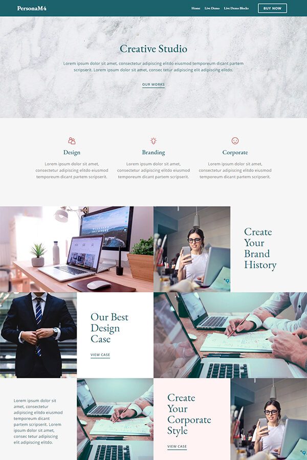 HTML Creative Studio Site Theme
