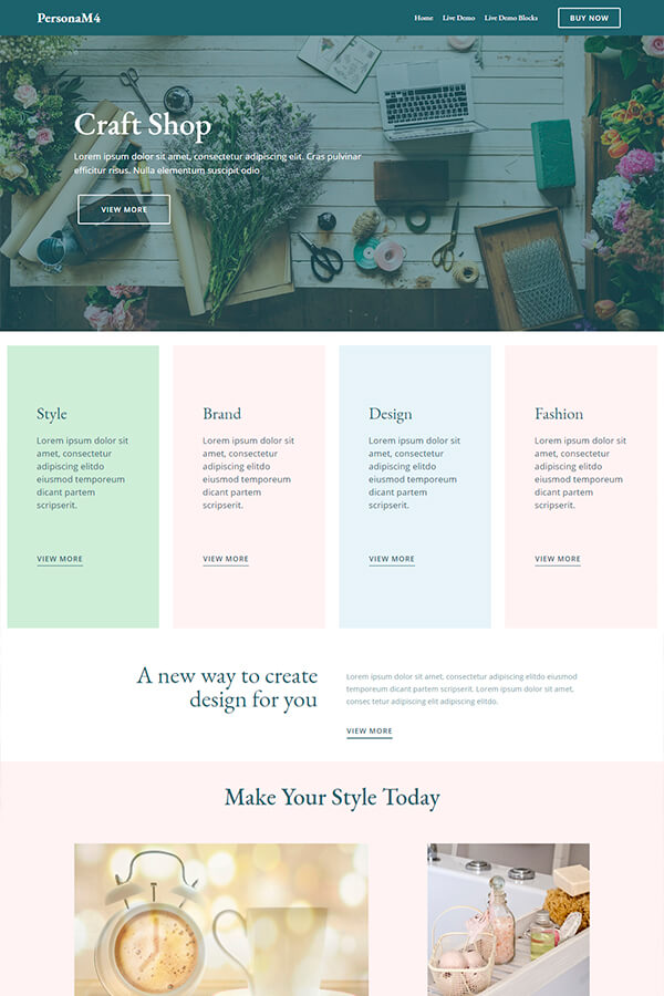 Craft Shop Web Design Theme