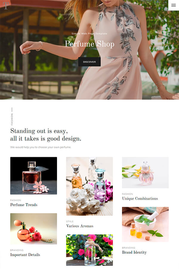 Perfume Shop Web Template