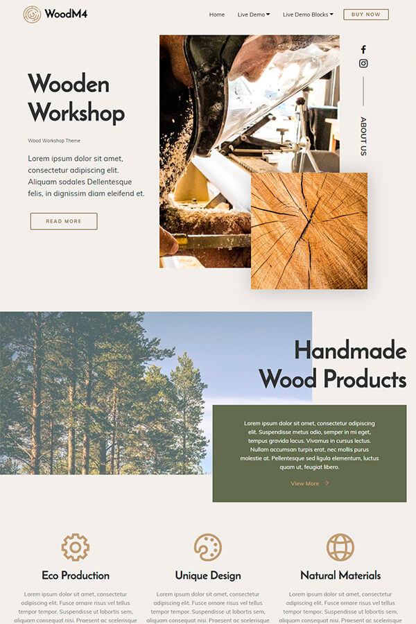 Wood Workshop Theme